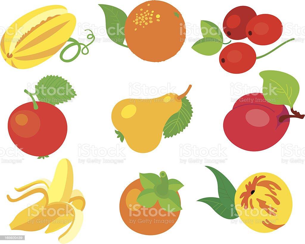 Fruits set. royalty-free stock vector art