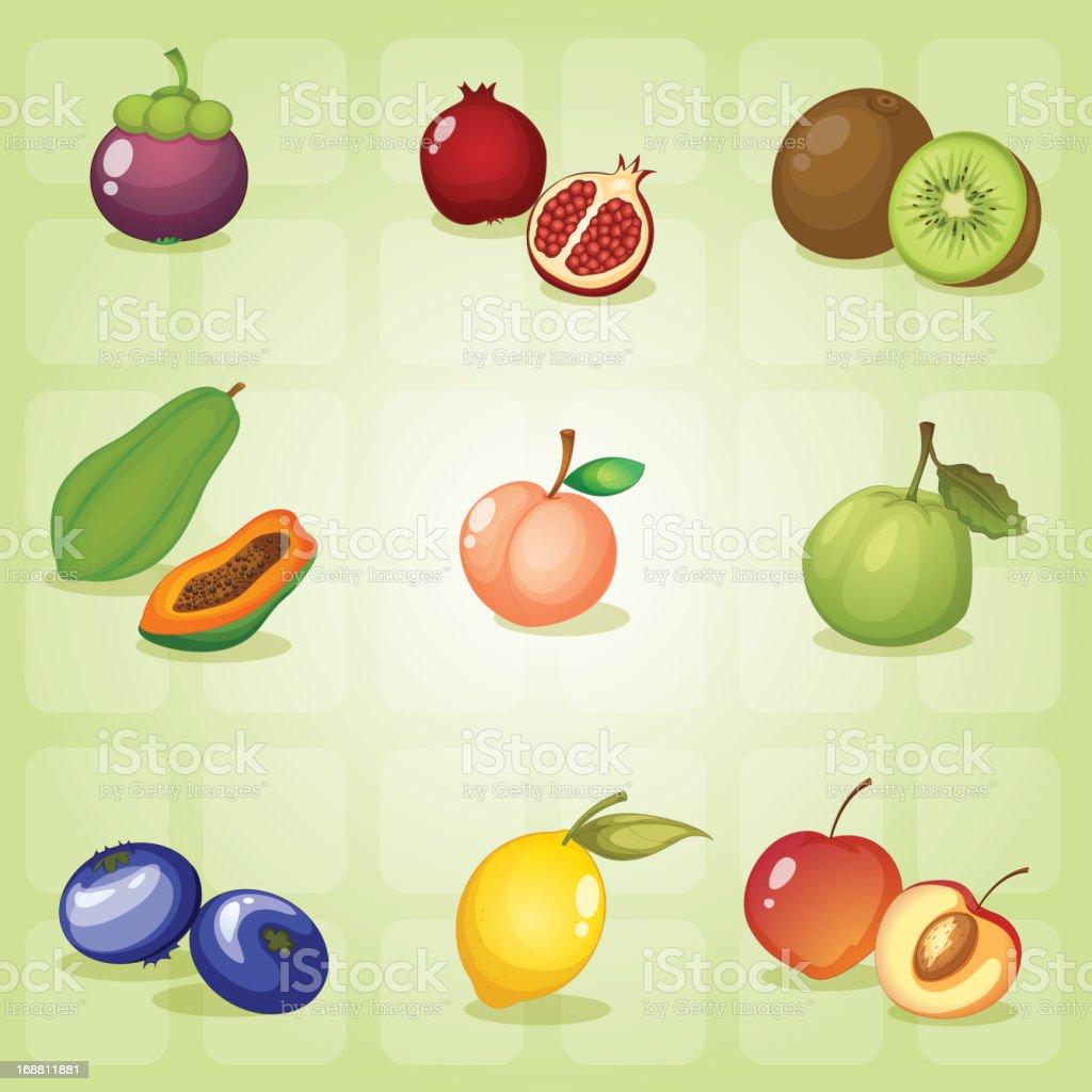 Fruits royalty-free stock vector art