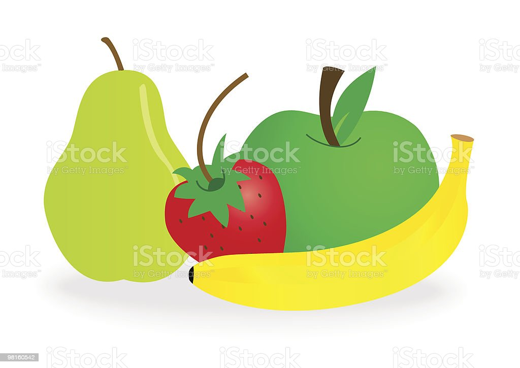 fruits royalty-free fruits stock vector art & more images of apple - fruit