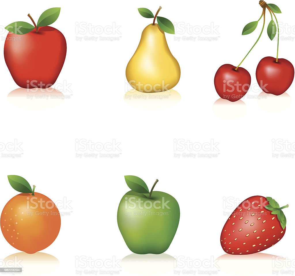 Frutas royalty-free frutas stock vector art & more images of apple - fruit