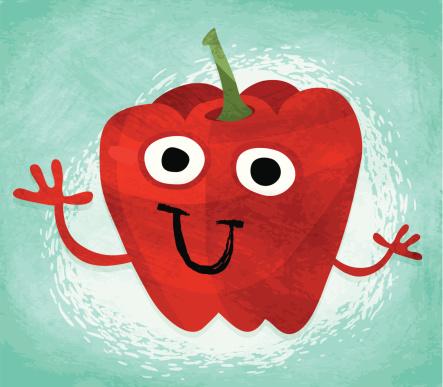 Fruits & Veggies - Happy Red Pepper!