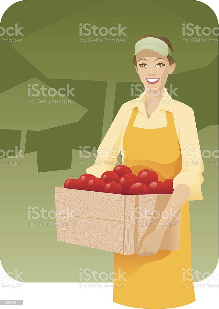 Fruits Vendor royalty-free stock vector art