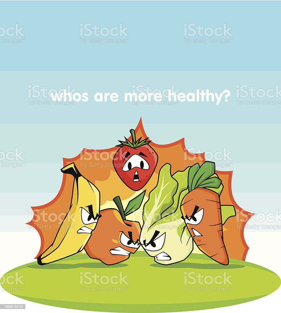 Fruits vs Vegetables royalty-free fruits vs vegetables stock vector art & more images of activity