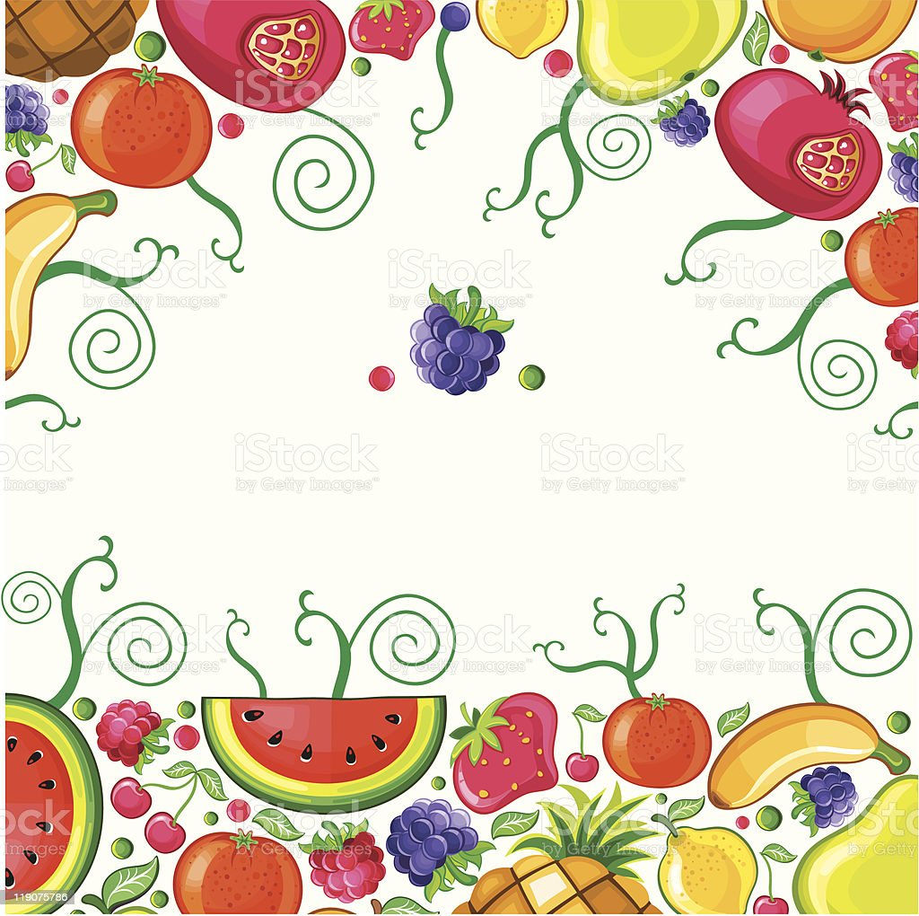 Fruity background royalty-free stock vector art