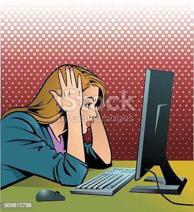 istock Frustrated Computer Operator 505672736