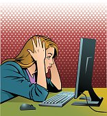 istock Frustrated Computer Operator 505672736