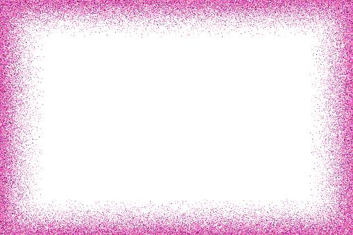 Fuchsia glitter frame