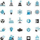Quartico vector icons - Fuel and Power Generation