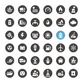 Fuel and Power Generation related icons.