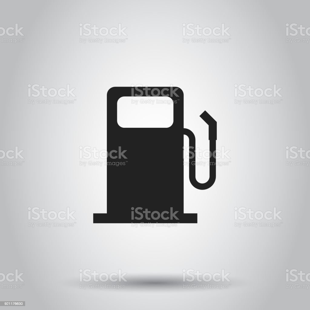 Fuel Gas Station Icon Vector Illustration On Isolated Background ...