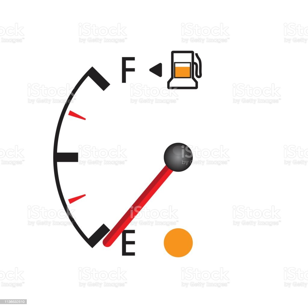 Fuel Gauge Vector Illustration Isolated On White Background
