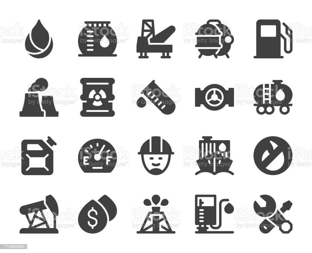 Fuel Industry - Icons vector art illustration