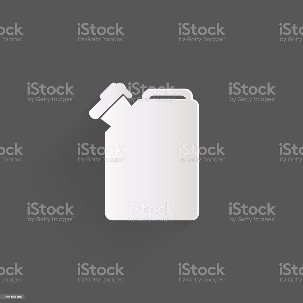 Fuel jerrycan icon vector art illustration