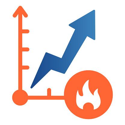 Price increase trading platform icon