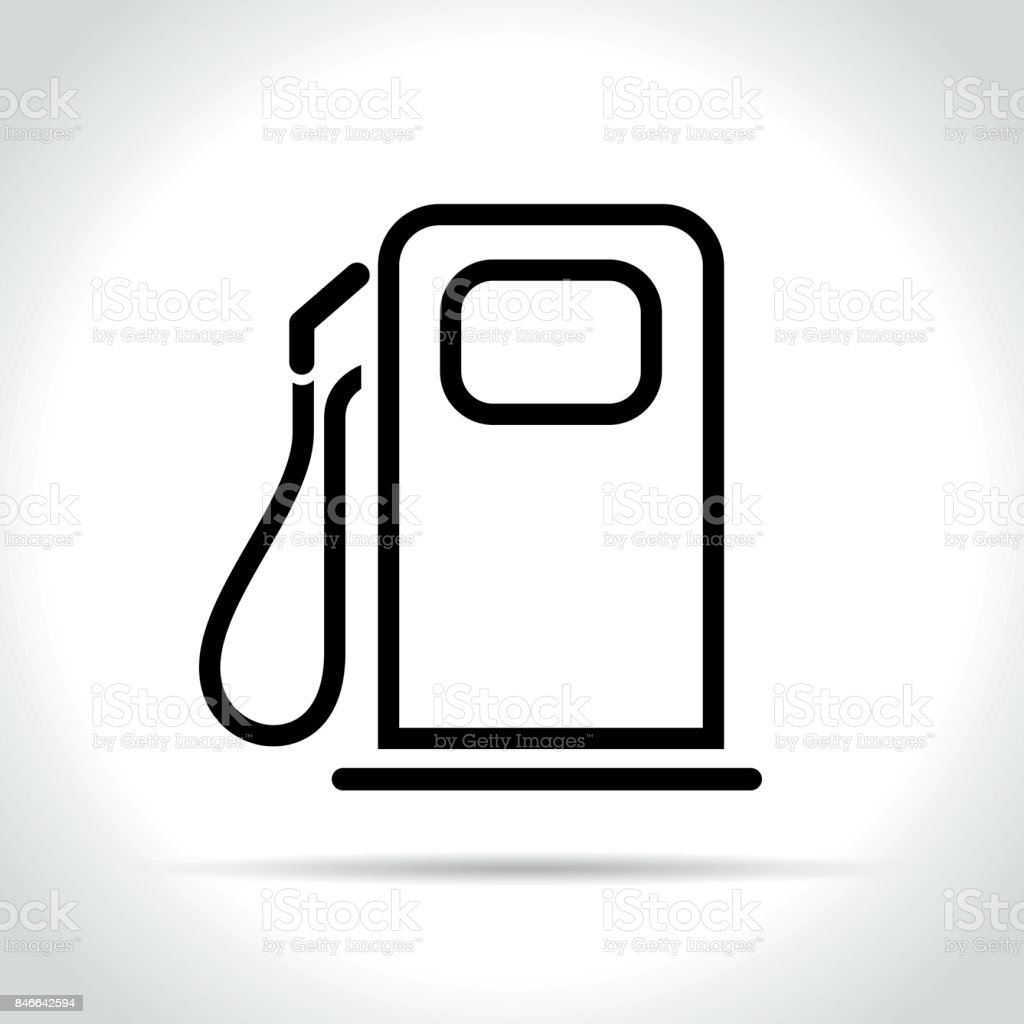 fuel pump icon on white background vector art illustration