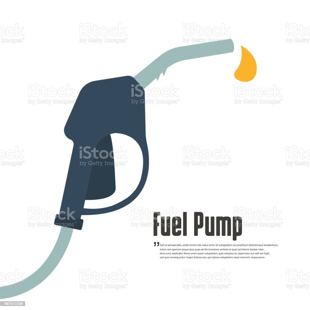 Fuel pump icon vector art illustration