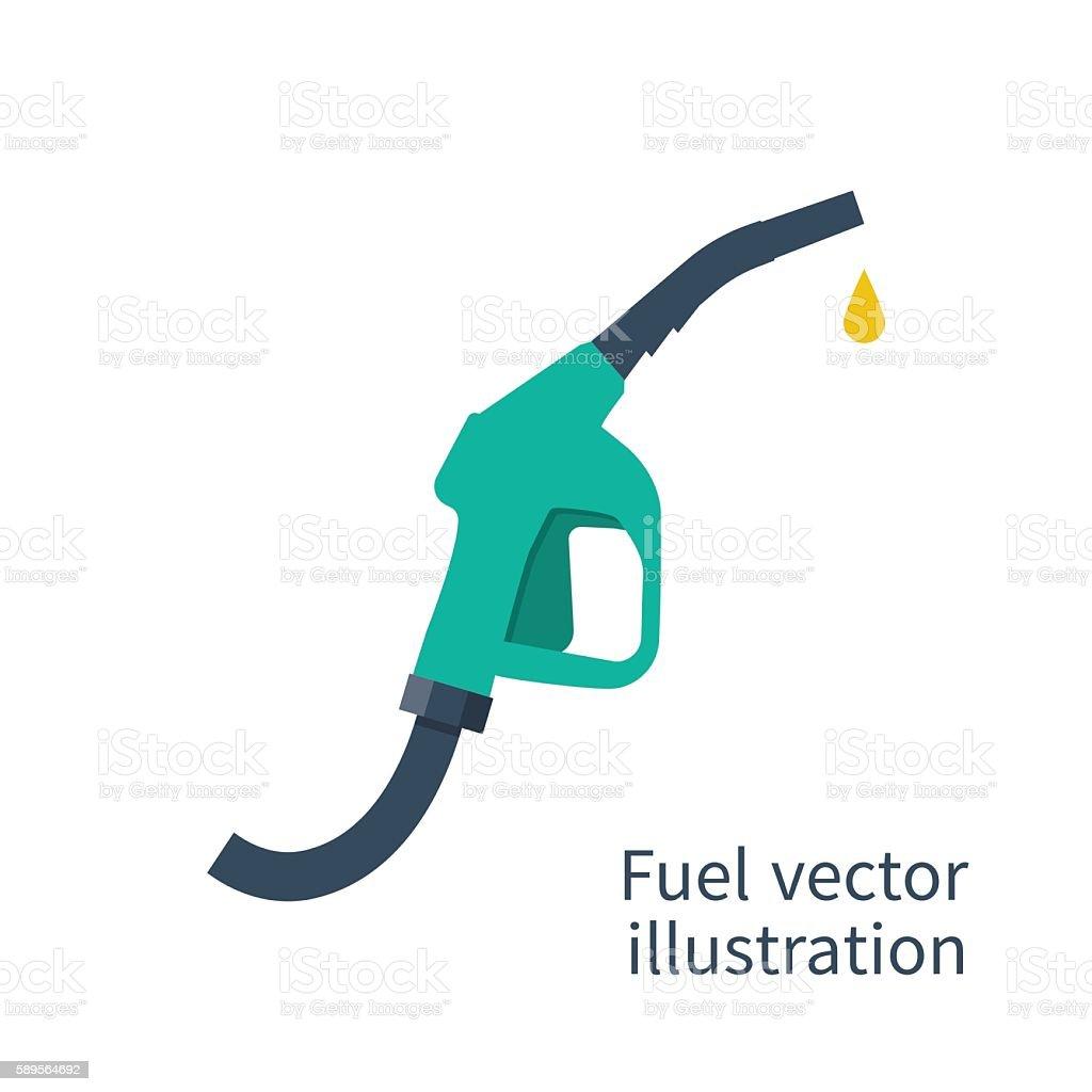 Fuel pump. Petrol station sign. Gas station sign. Gasoline pump vector art illustration