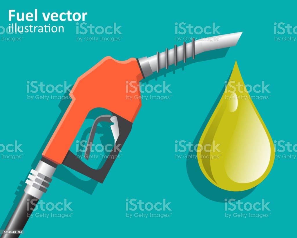 Fuel pump , Petrol station. Vector illustration. vector art illustration