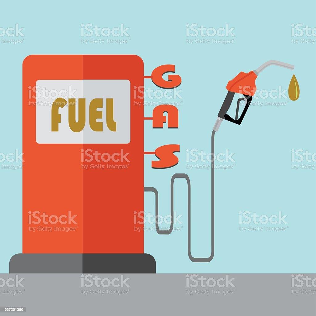 Fuel pump vector concept vector art illustration