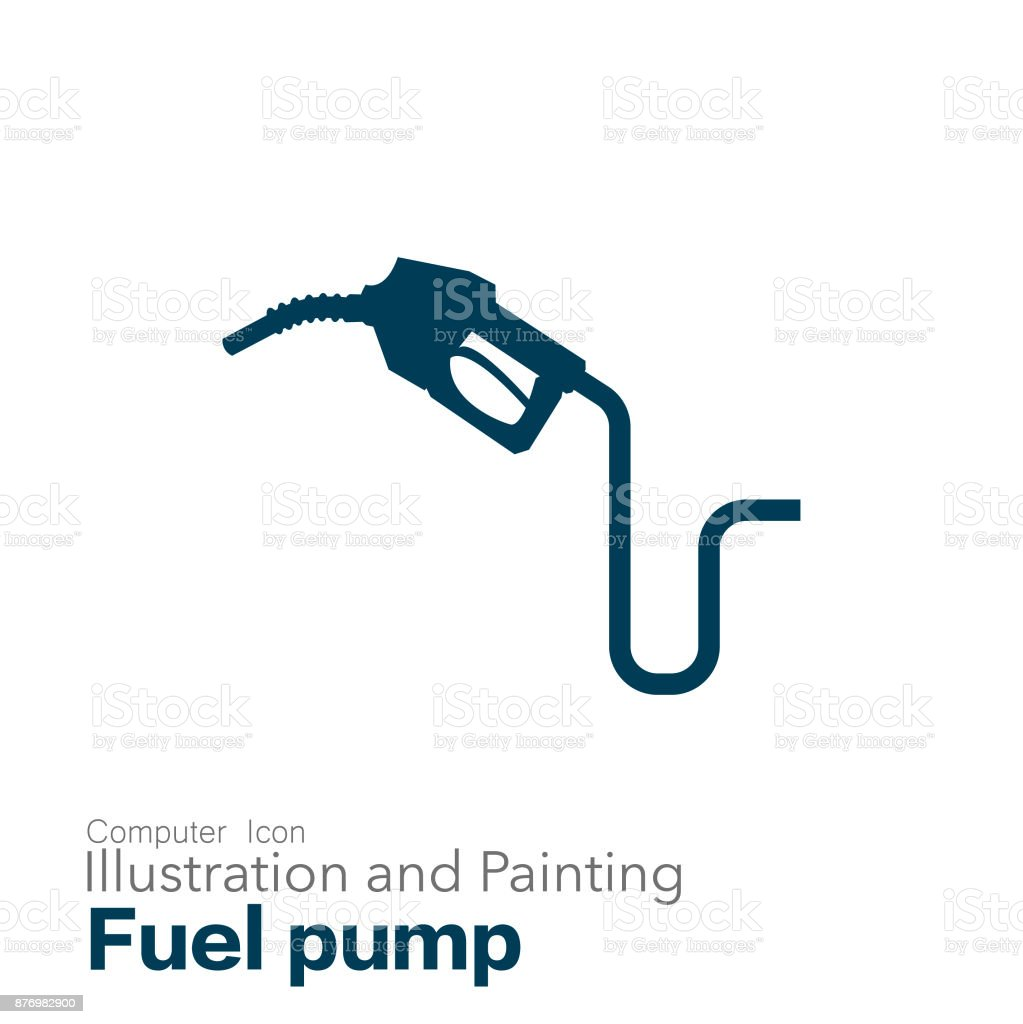 fuel pump vector art illustration