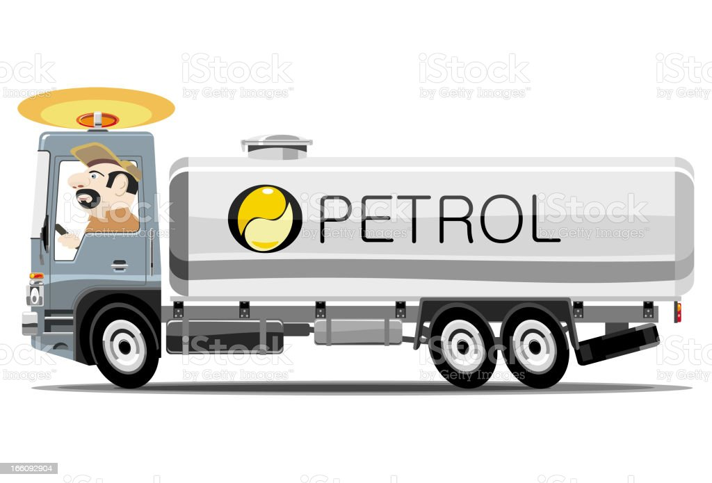 Fuel truck royalty-free stock vector art