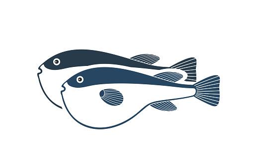 Fugue logo. Isolated fugue on white background
