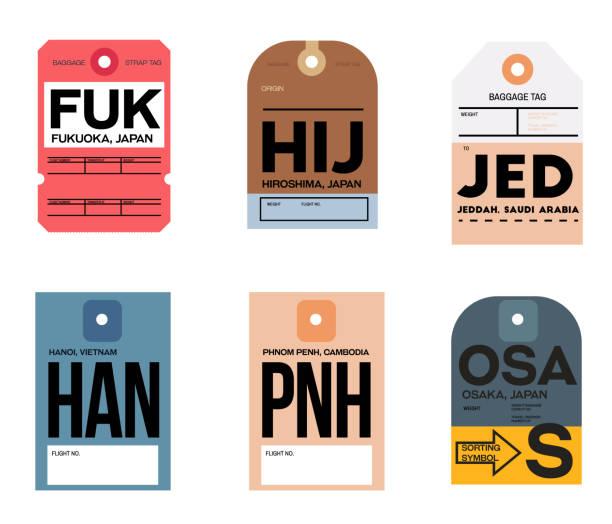福岡廣島 jeddah hanoi phnom haka 大阪行李標籤 - hiroshima 幅插畫檔、美工圖案、卡通及圖標