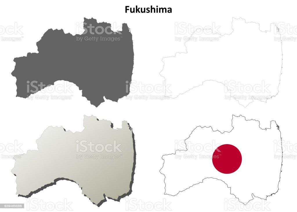 福島空白概要地図セット 3dのベクターアート素材や画像を多数ご用意