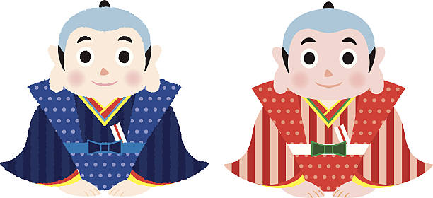 fukusuke vector art illustration