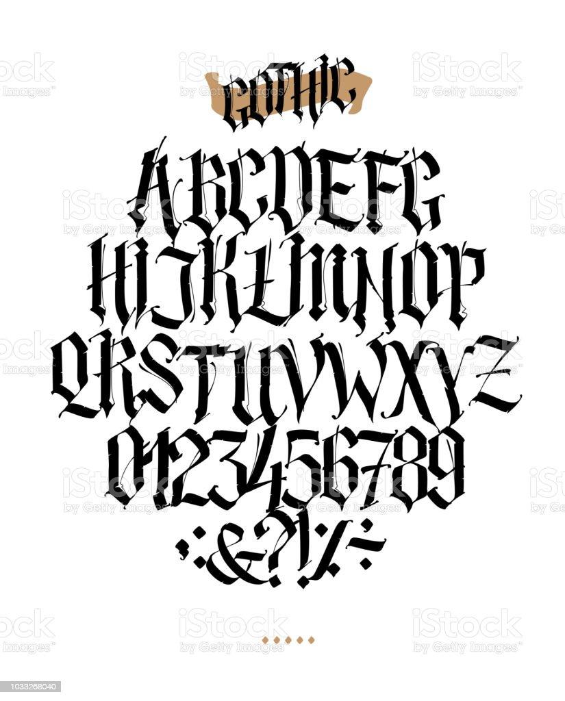 Vectores De Letras Goticas Para Tatuajes E Ilustraciones Libres De