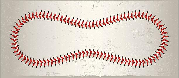 Full Baseball Laces vector art illustration