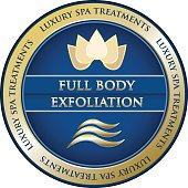 Full body exfoliation luxury spa treatment gold medal advertisement.
