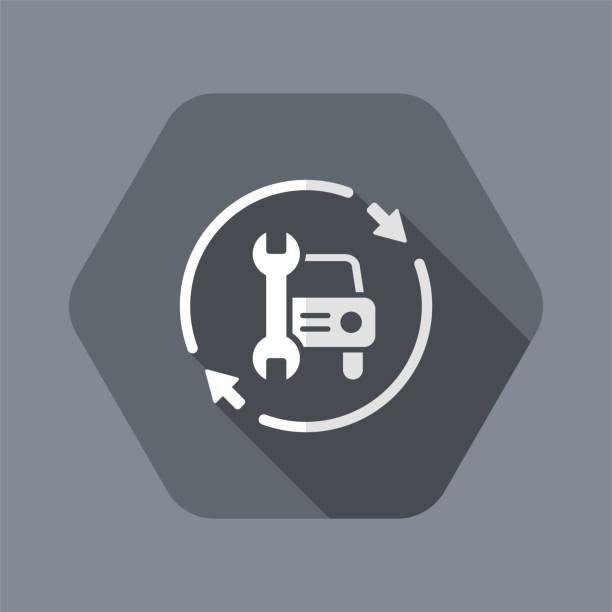 bildbanksillustrationer, clip art samt tecknat material och ikoner med full bil assistans tjänster-vektor webb ikon - chain studio