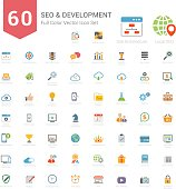 Full Color SEO and Development icons