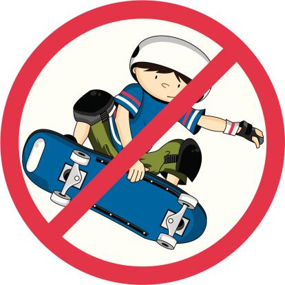 Full Colour No Skateboarding Sign