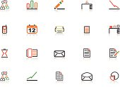 Full Colour Office and Business Icon Set