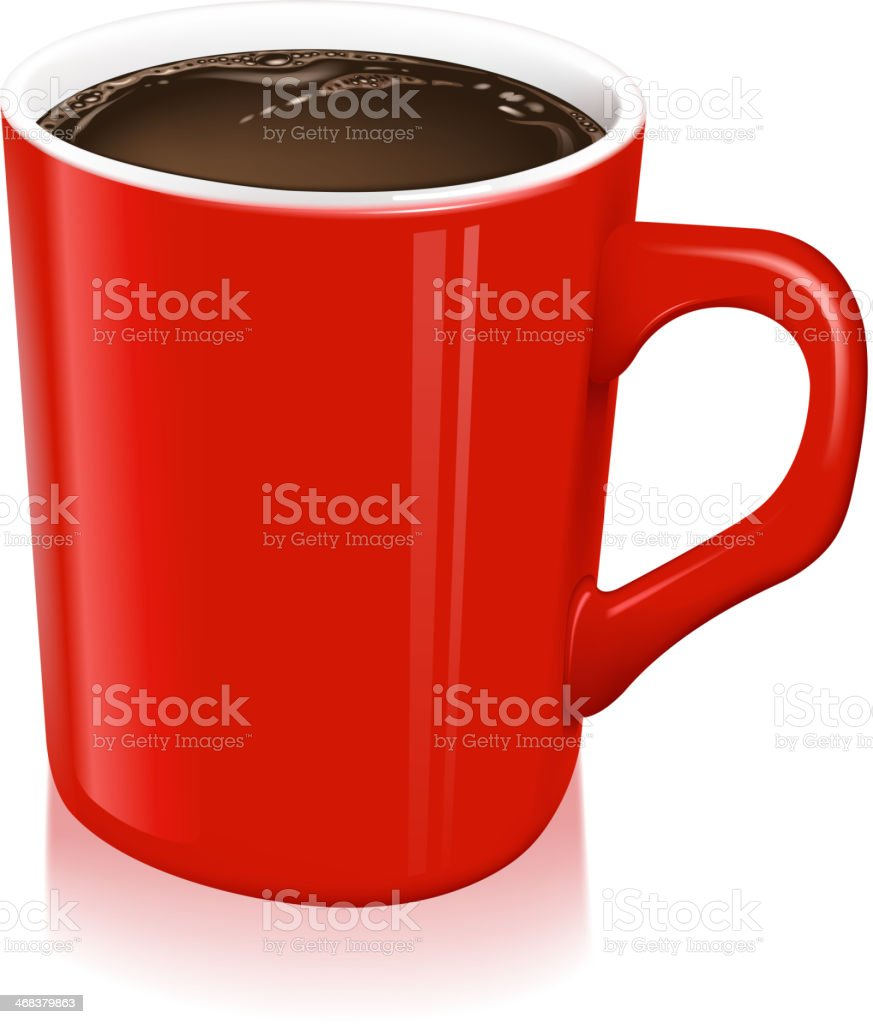 full cup of coffee royalty-free stock vector art