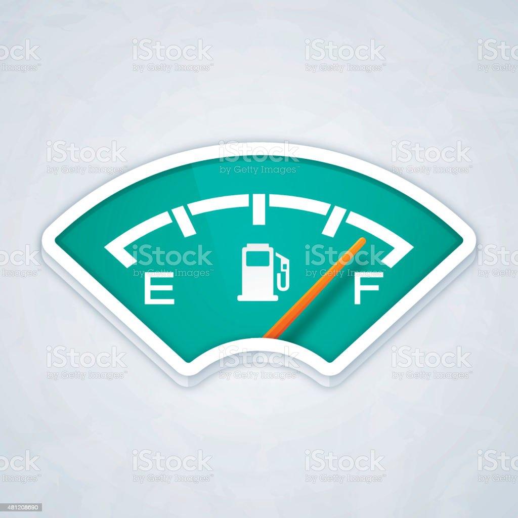 Full Fuel Gauge vector art illustration