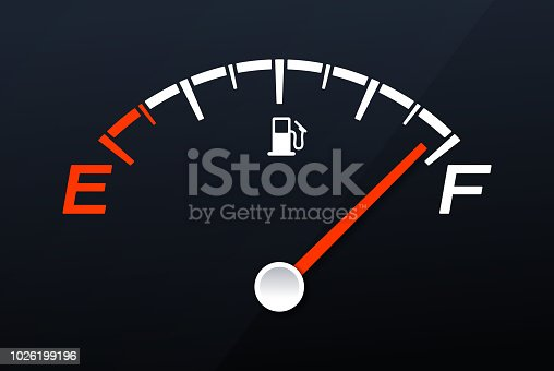 istock Full Gas Tank Gauge 1026199196