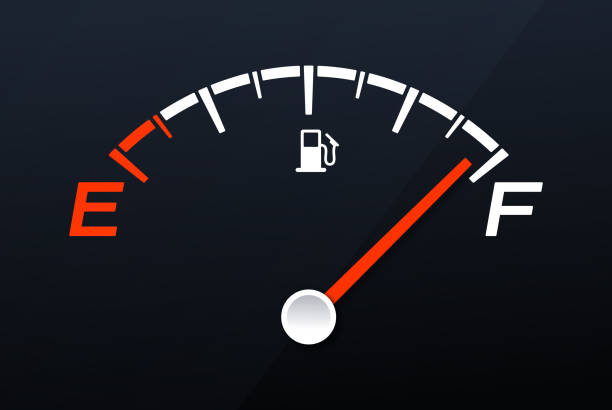 illustrazioni stock, clip art, cartoni animati e icone di tendenza di full gas tank gauge - pieno