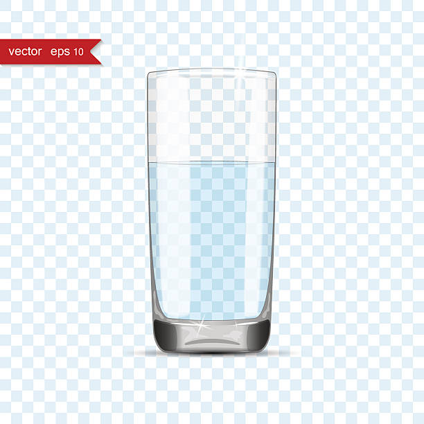 how to draw a full glass cup of water