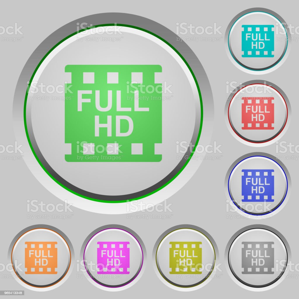Full HD movie format push buttons royalty-free full hd movie format push buttons stock vector art & more images of at the edge of