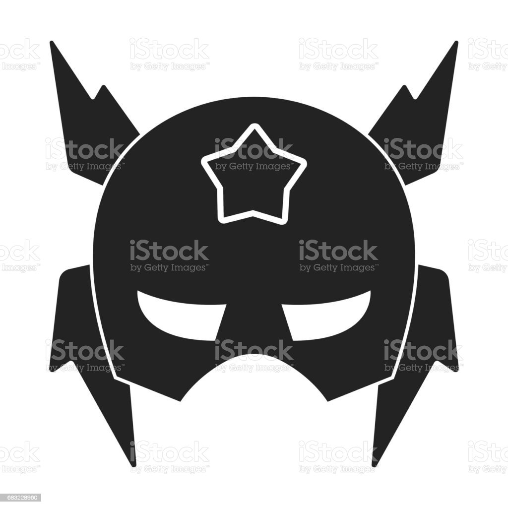 Full head mask icon in black style isolated on white background. Superhero's mask symbol stock vector illustration. royalty-free full head mask icon in black style isolated on white background superheros mask symbol stock vector illustration stock vector art & more images of art