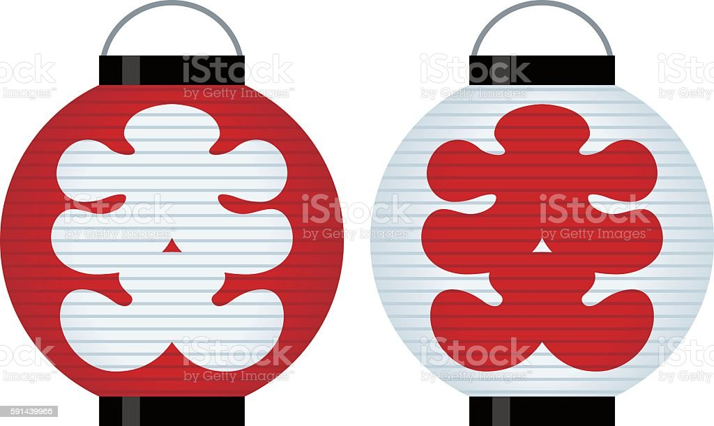 Full house Lantern of Japan vector art illustration