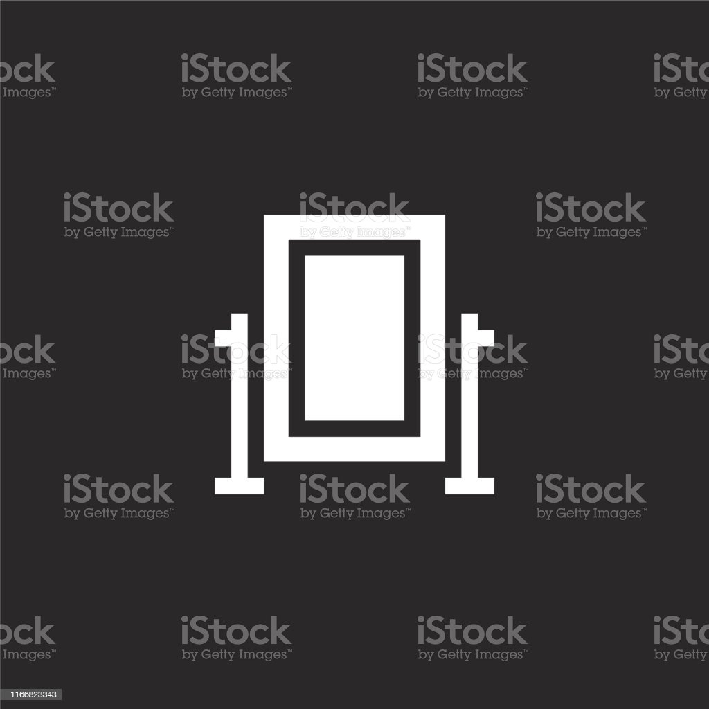 Full Length Mirror Icon Filled Full Length Mirror Icon For