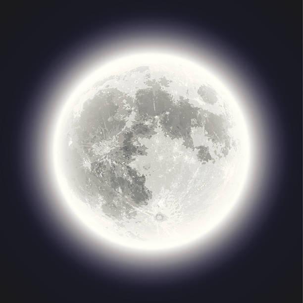 Full Moon - Hand Traced & Very Detailed vector art illustration