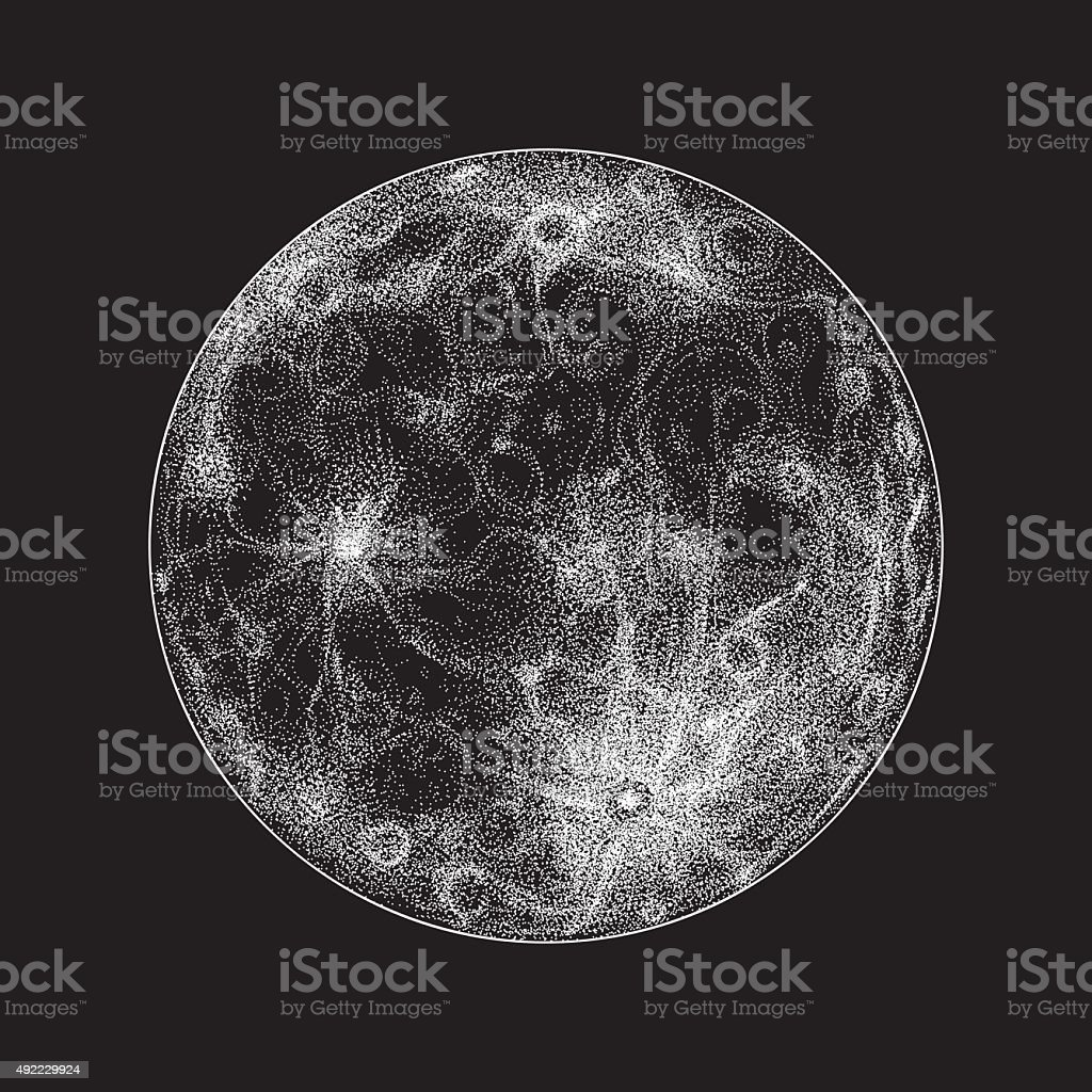Full moon illustration vector art illustration