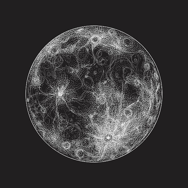 full moon illustration - moon stock illustrations, clip art, cartoons, & icons