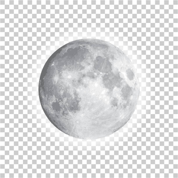 Full moon isolated with background, vector vector art illustration