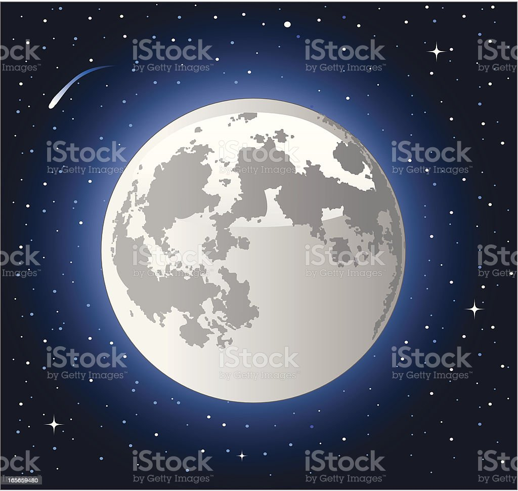 full moon royalty-free stock vector art